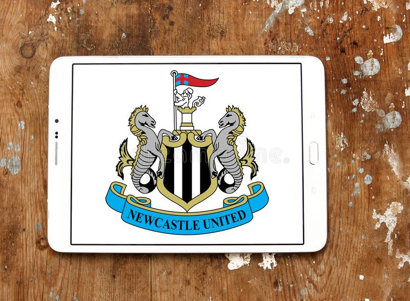 De clubembleem van het Newcastle Unitedvoetbal royalty-vrije stock afbeeldingen