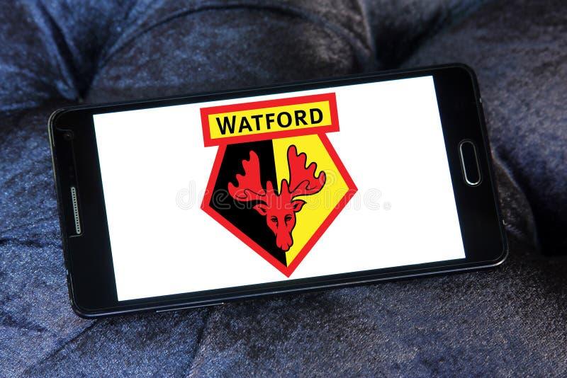 De clubembleem van het Watfordvoetbal stock foto