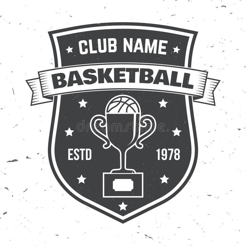 De clubkenteken van de basketbalsport Vector illustratie Concept voor overhemd, zegel of T-stuk Uitstekend typografieontwerp met  vector illustratie