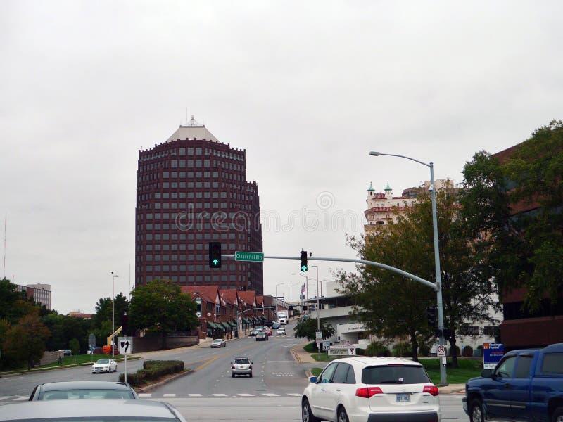 De Clubplein van het land, Kansas City, MO, stedelijke scène stock afbeeldingen