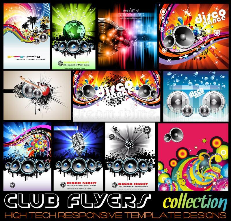De Clubvliegers van de Stunnigdisco collecton vector illustratie