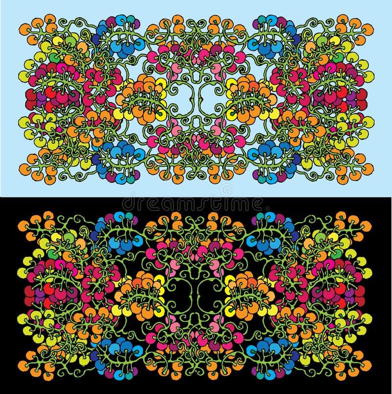 De clusters van de druif in decoratieve samenstelling stock illustratie