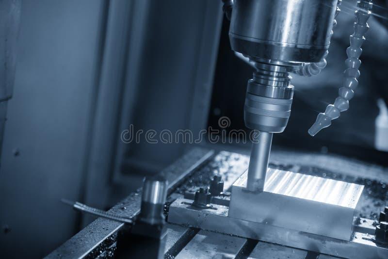 De CNC malenmachine die de injectievorm met de indexable de molenhulpmiddelen van het straaleind snijden royalty-vrije stock foto