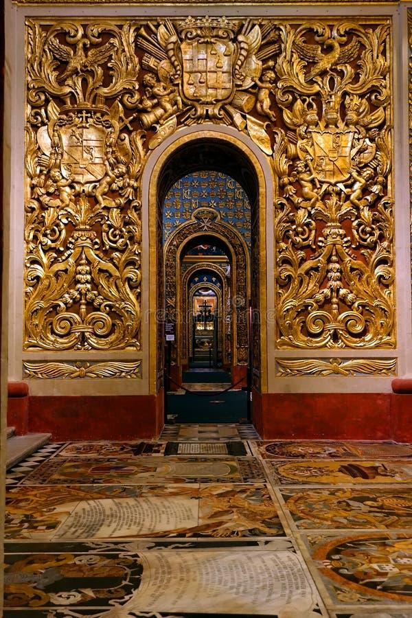 De co-Kathedraal van bogenheilige John's, Malta stock afbeelding
