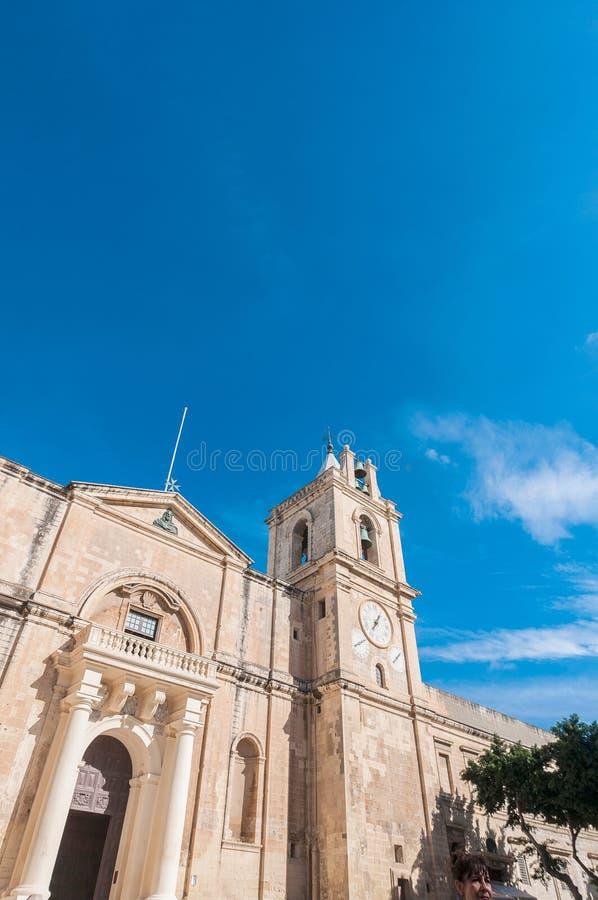 De co-Kathedraal van heilige John ` s in Valletta, Malta stock afbeeldingen
