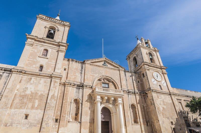 De co-Kathedraal van heilige John in Valletta, Malta stock fotografie