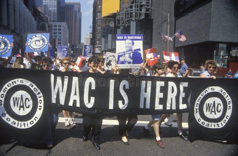 De Coalitie die van vrouwen in New York marcheert
