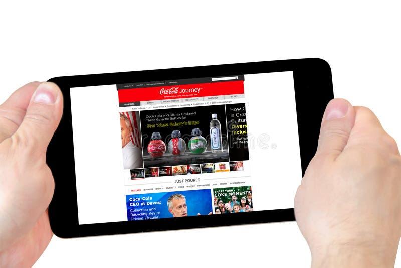De Coca-Cola-homepage van de Bedrijfwebsite royalty-vrije stock afbeeldingen