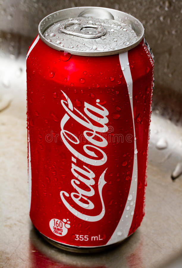De coca-cola kan
