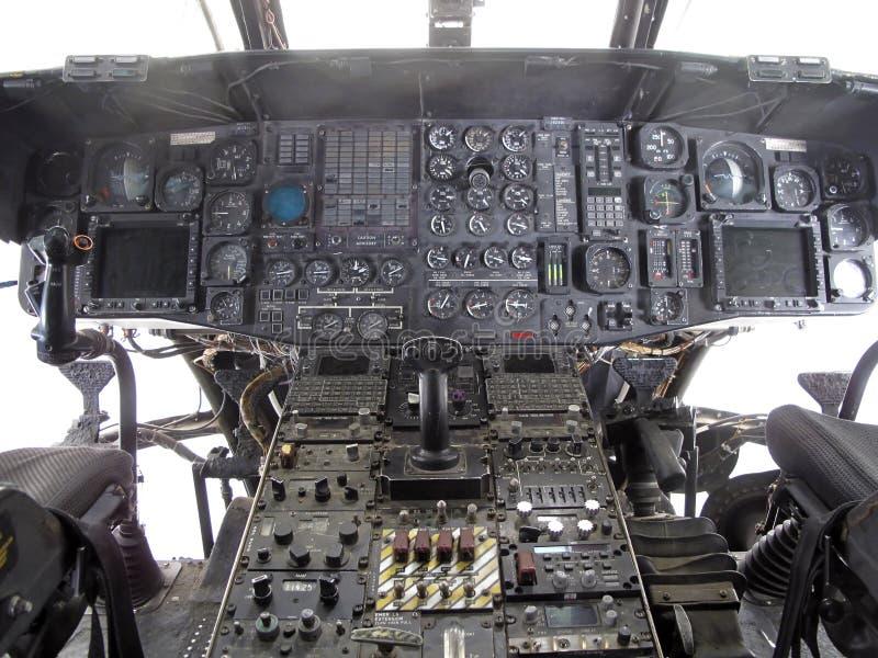 De Cockpit van de helikopter royalty-vrije stock afbeelding