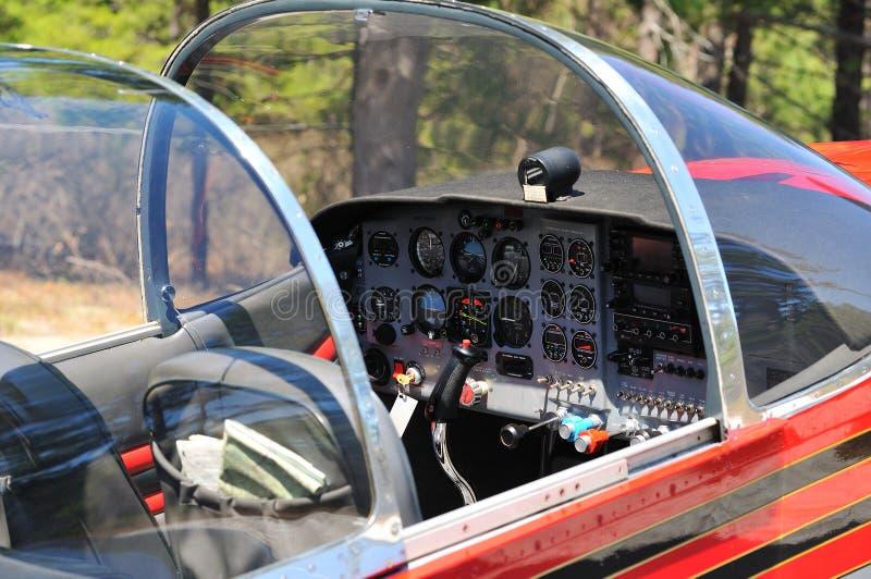 De Cockpit van het vliegtuig royalty-vrije stock foto