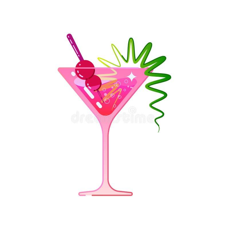 De cocktail is kosmopolitisch vector illustratie