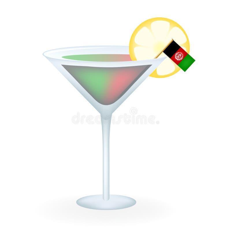 De cocktail van Afghanistan royalty-vrije illustratie