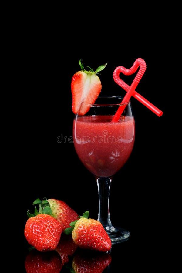 De cocktail van de aardbei stock foto's