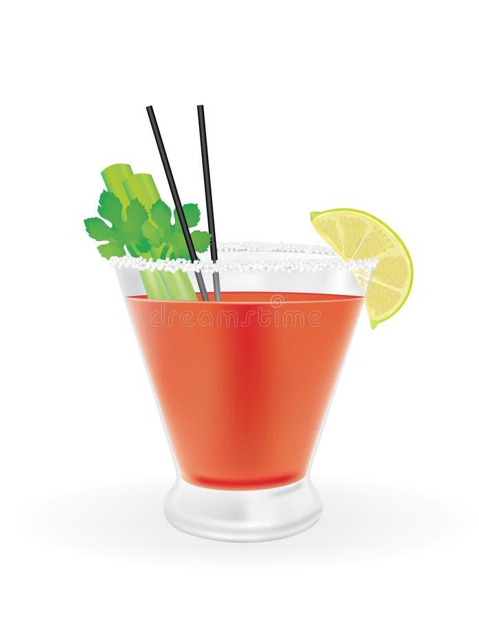 De Cocktail van de bloody mary vector illustratie