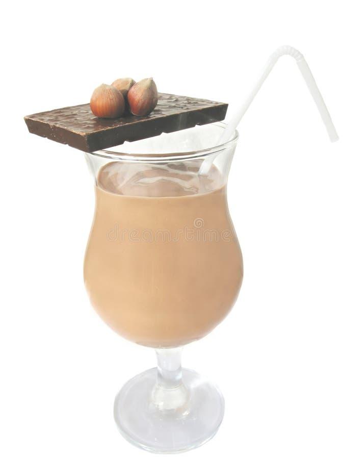 De cocktail van de chocolade stock foto