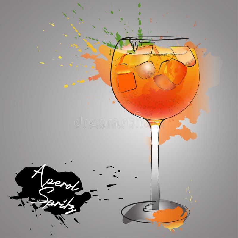 De cocktail van de de zomerbar royalty-vrije illustratie