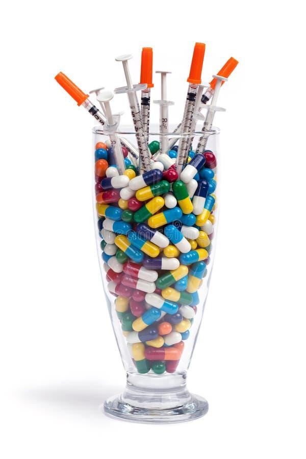 De Cocktail van de drug stock foto