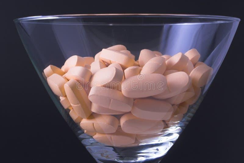 De Cocktail van de drug stock afbeelding