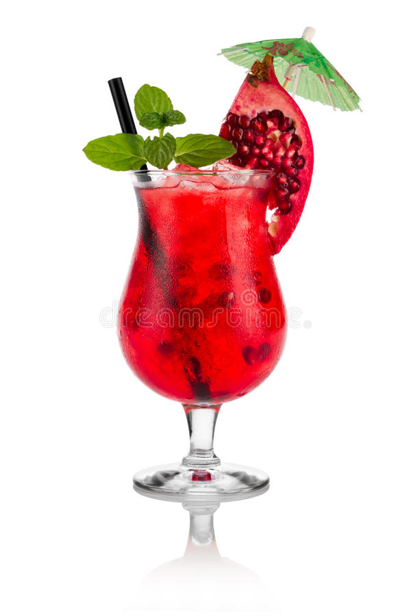 De cocktail van de granaatappel royalty-vrije stock afbeelding