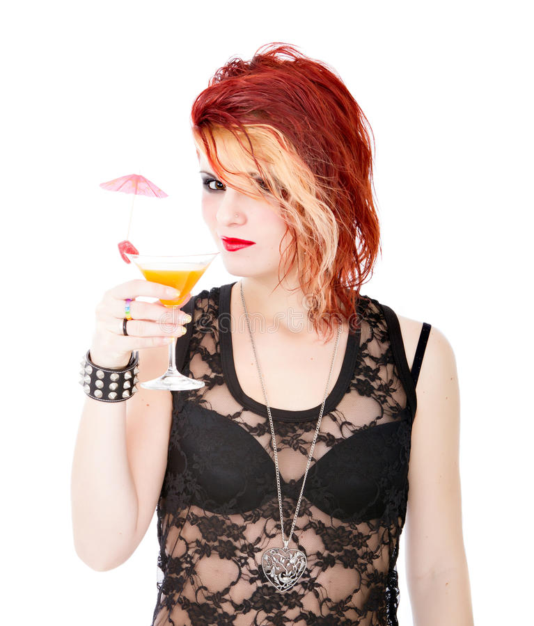 De cocktail van de vrouw royalty-vrije stock afbeeldingen