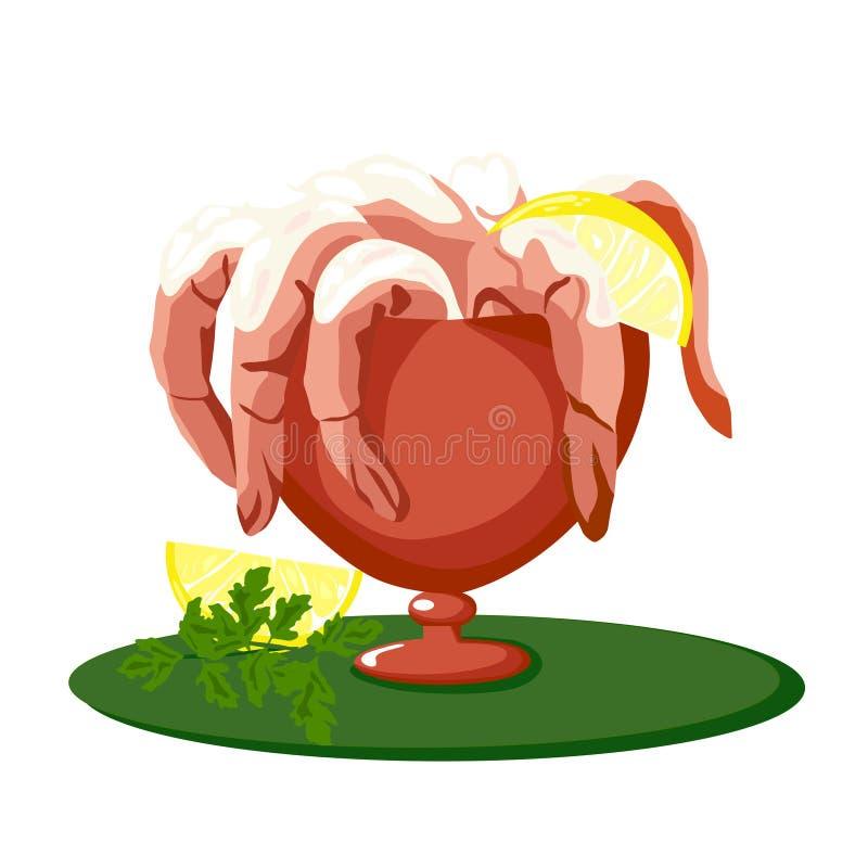 De Cocktail van garnalen stock illustratie