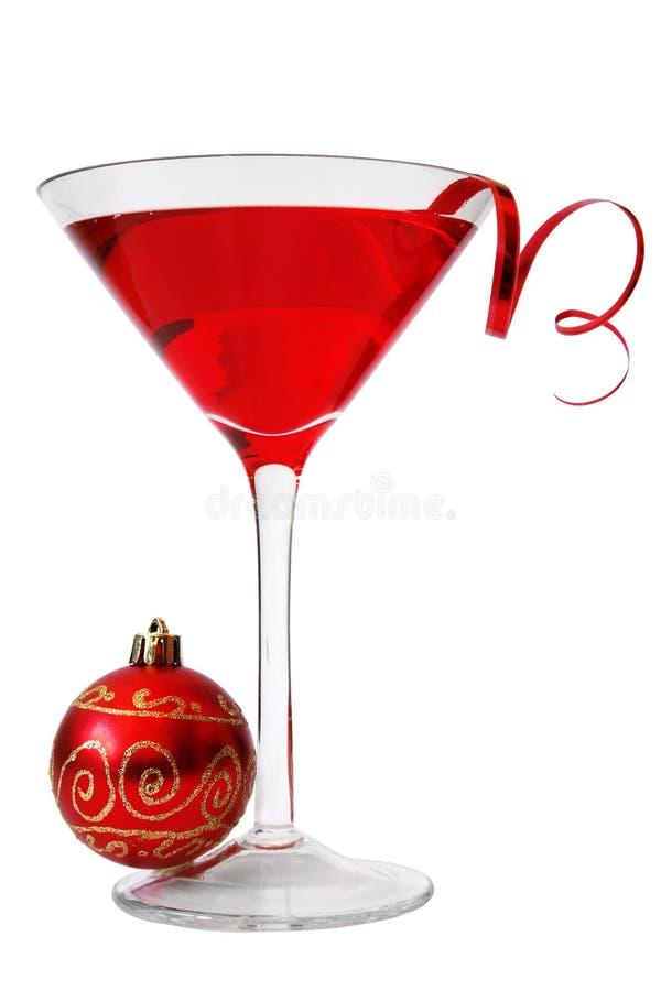 De Cocktail van Kerstmis stock foto's