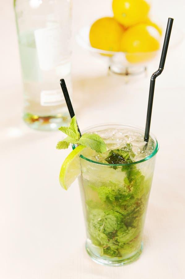De cocktail van Mojito in een glas royalty-vrije stock fotografie