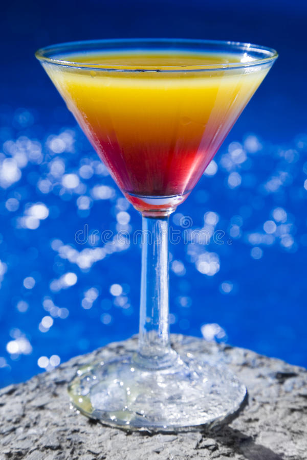 De Cocktail van Poolside stock afbeelding