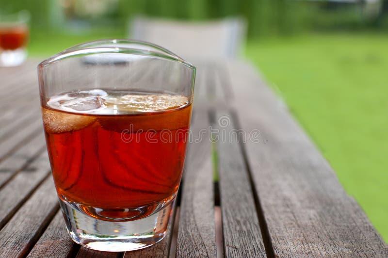 De cocktail-zomer van de alcohol drinkk-roodalcoholische drank royalty-vrije stock fotografie