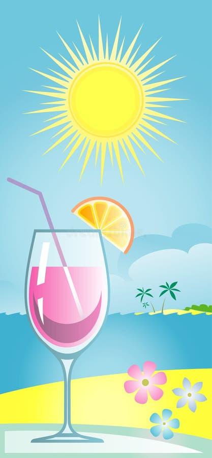 De cocktailillustratie van de zomer (Vector) vector illustratie