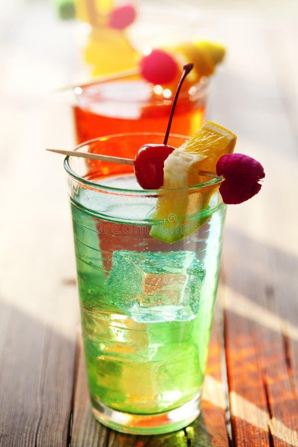 De cocktails van de zomer royalty-vrije stock afbeeldingen
