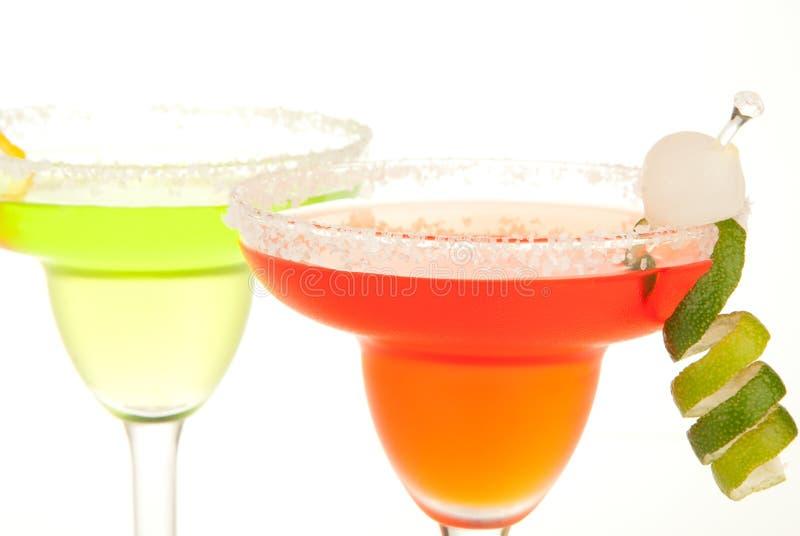 De cocktails van Margarita van de kalk en van de Aardbei royalty-vrije stock fotografie