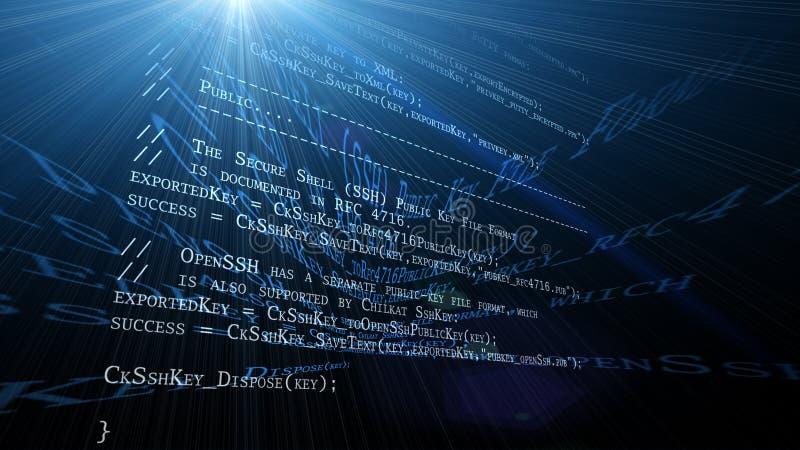 De code van de programmering royalty-vrije illustratie