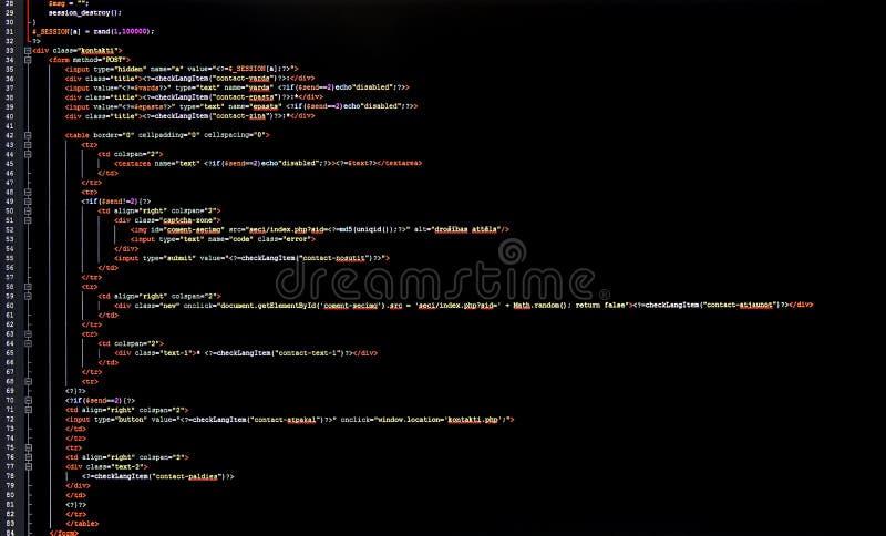 De code van de programmering royalty-vrije stock fotografie
