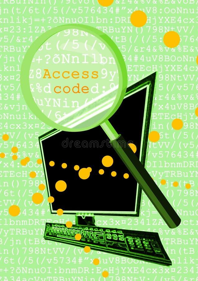 De code van de toegang clipart stock illustratie