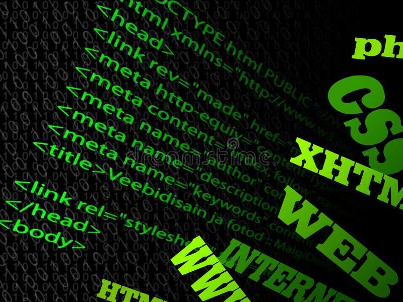 De code van de website vector illustratie