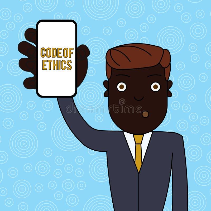 De Code van de handschrifttekst van Ethiek E stock illustratie