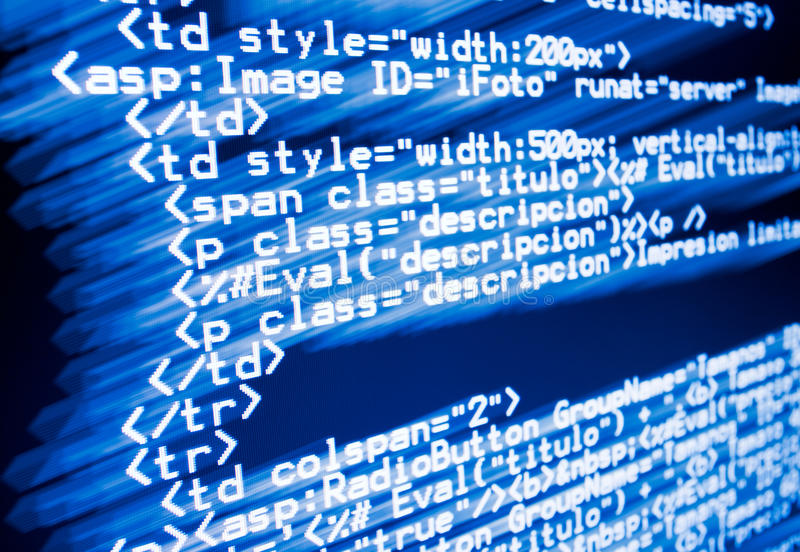 De code van het Web royalty-vrije illustratie