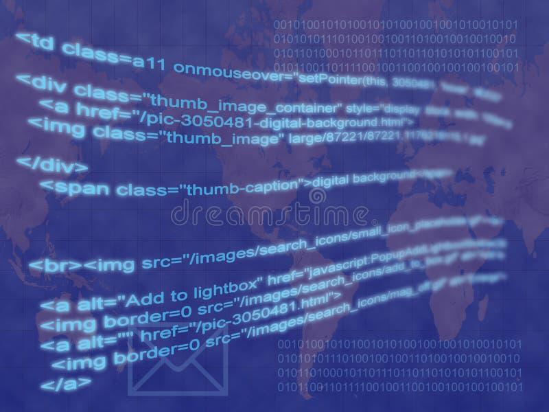 De code van Internet royalty-vrije stock foto