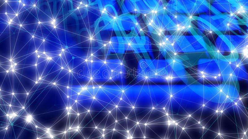 De code van de videospelletjecomputer, de abstracte vormen van technologie, digitale transformatie immersive technologie royalty-vrije stock foto's