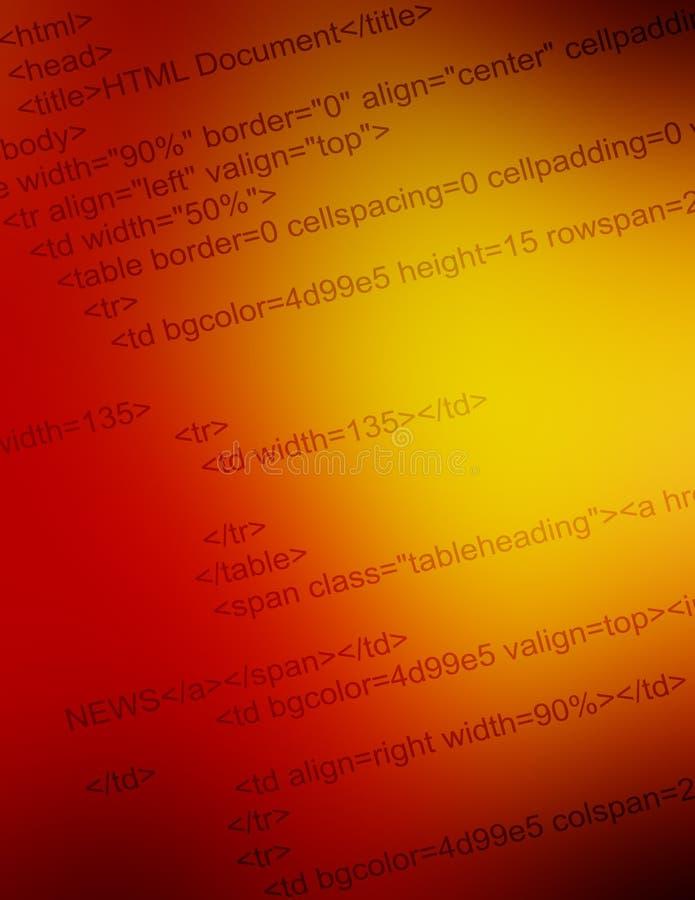 De codeclose-up van HTML royalty-vrije stock afbeelding