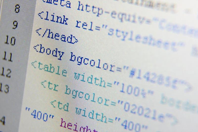 De codes van HTML stock afbeeldingen