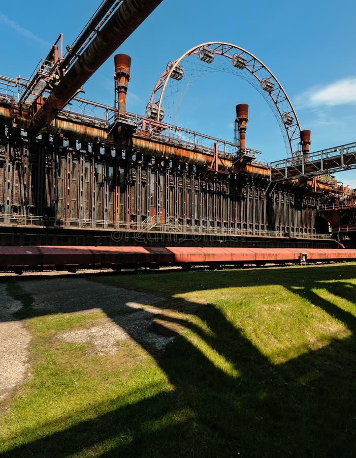 De cokesfabriek van Zollverein van Zeche royalty-vrije stock fotografie