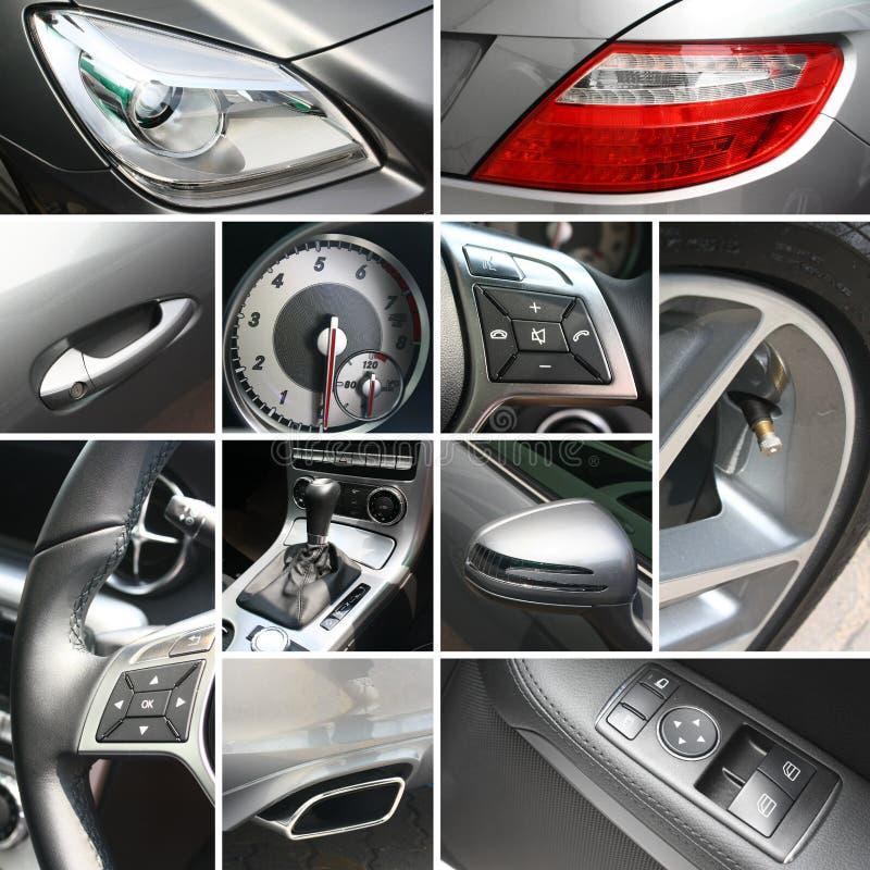 De collage van de autodetails van de luxe royalty-vrije stock fotografie