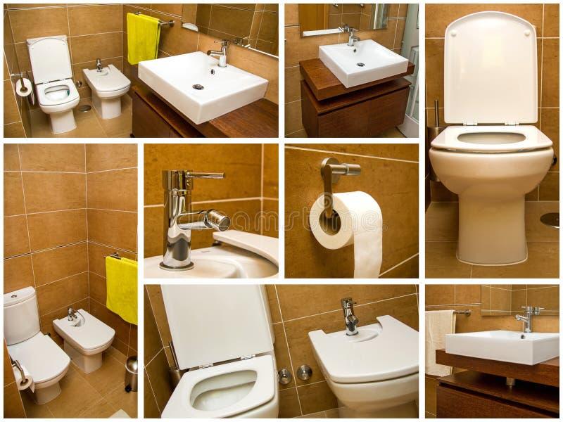 De collage van de badkamers stock afbeelding