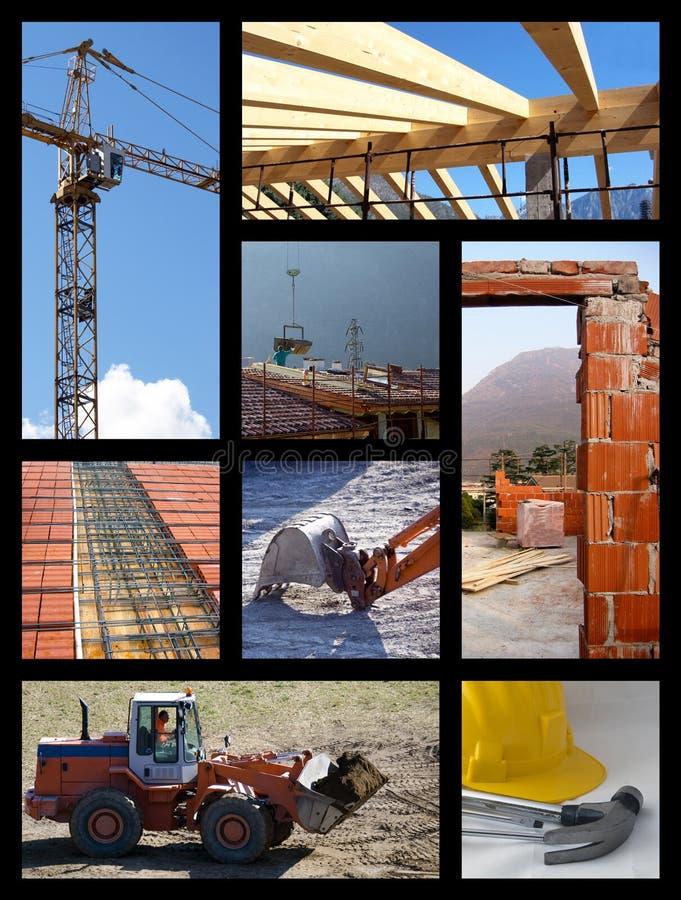 De collage van de bouw royalty-vrije stock afbeelding