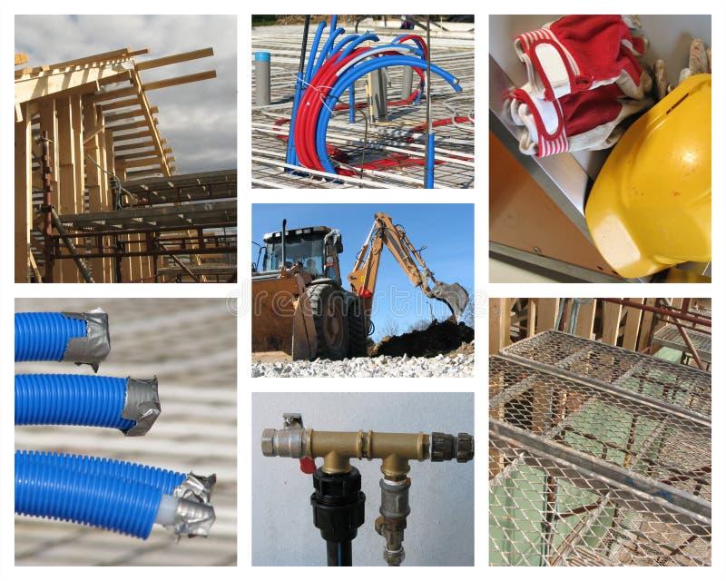De Collage van de Bouw van het huis stock foto's