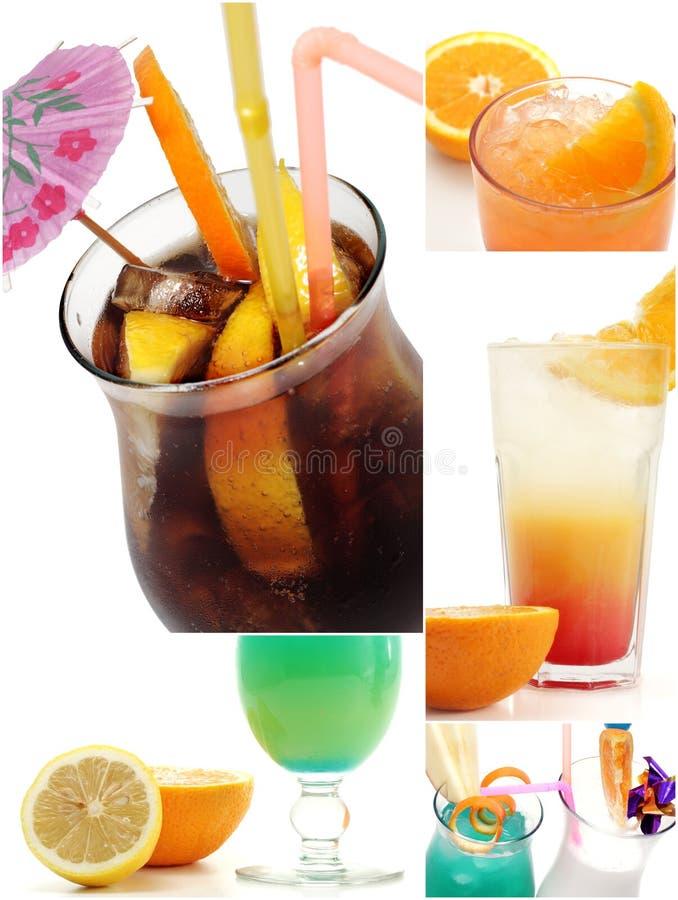 De Collage van de cocktail royalty-vrije stock foto's