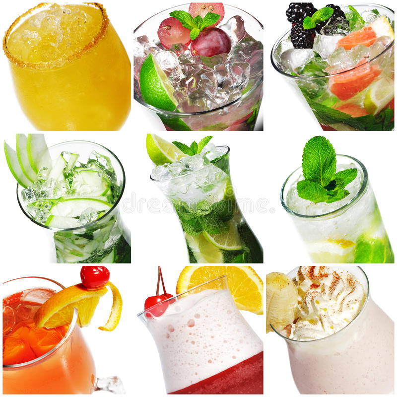 De Collage van de cocktail royalty-vrije stock afbeeldingen